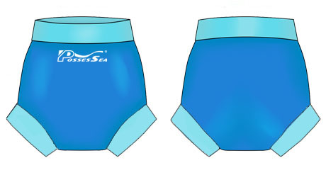 Neoprene Baby Swim Trunks-1824-BU