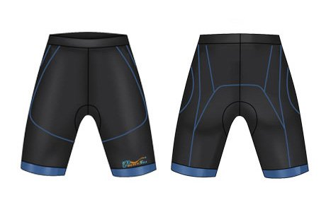 Neoprene Mens Swim Trunks-1879-BK