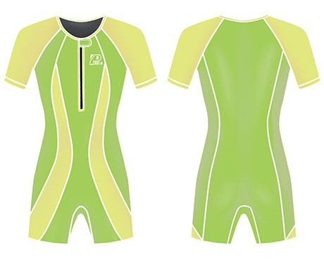 Neoprene Childrens Swimwear-1823-GN/YL
