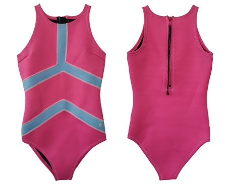 Neoprene Womens One Piece Swimsuit-1872-PK&BU
