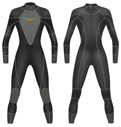 Neoprene Mens Full Body Surf Suit-1803-BK/GY