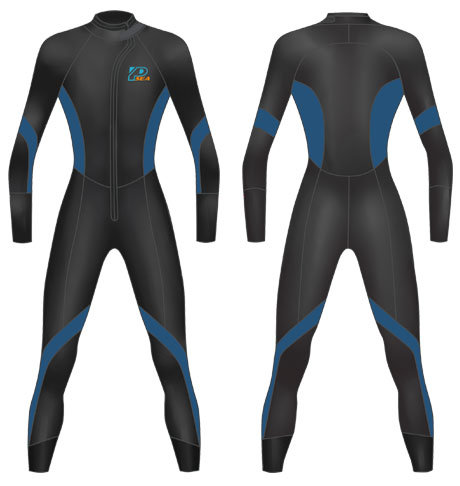 Neoprene Mens Scuba Diving Suit-1807-BK/NY