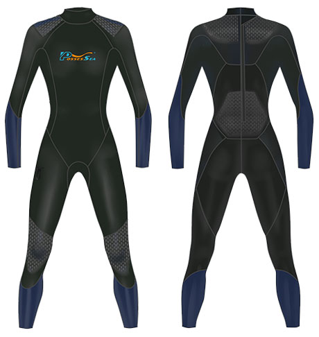 Neoprene Mens Scuba Suit-1811-BK/NY
