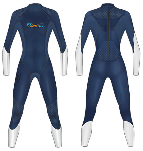 Neoprene Mens Scuba Suit-1811-NY/WT