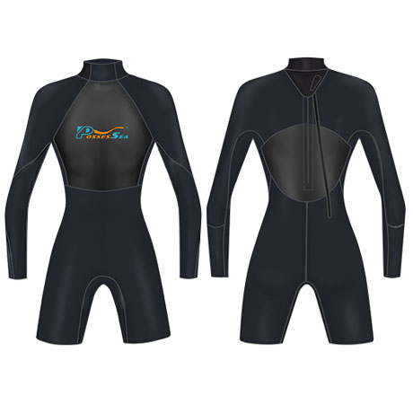Neoprene Mens Surfing Suit Surf-1859-BK