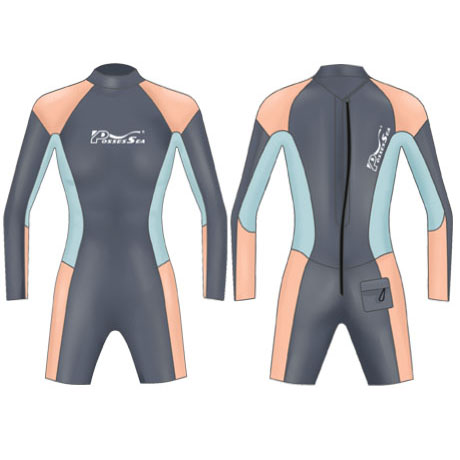 Neoprene Womens Surfing Suit Surf-1860-BK/OG