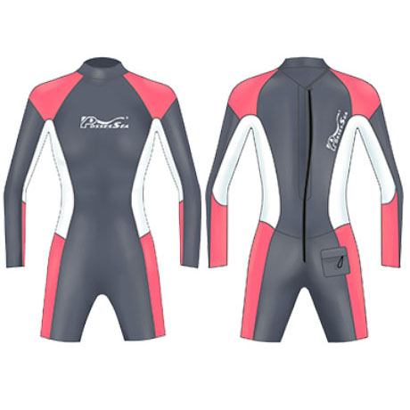 Neoprene Ladies Surfing Suit Surf-1860-BK/PK